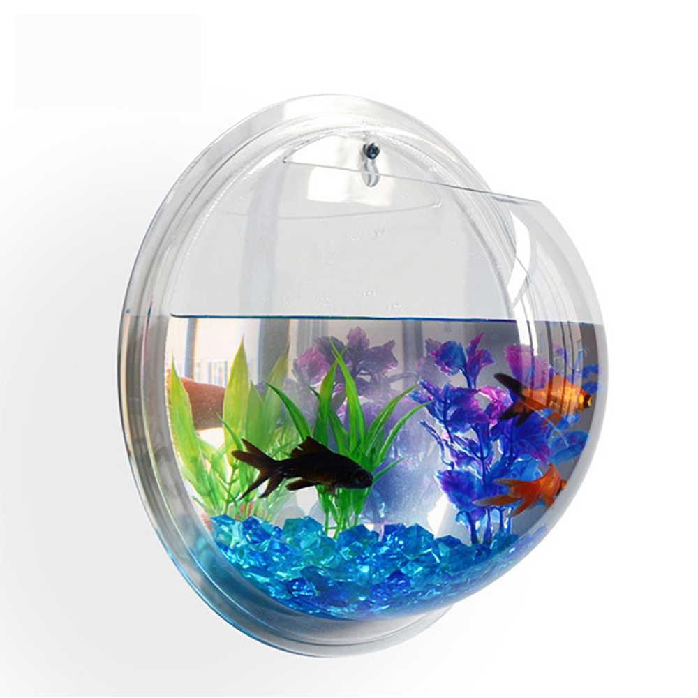 New wall mounted fish tank betta bubble aquarium with for Bubble wall fish tank