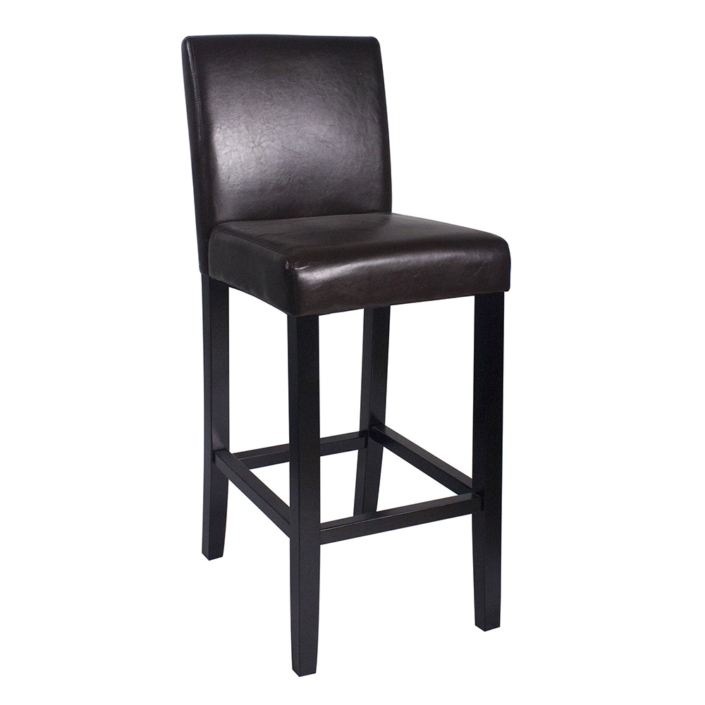 Phenomenal Details About New Wood Leather Barstool 29 Bar Counter Stool Kendall Set Of 4 Brown Caraccident5 Cool Chair Designs And Ideas Caraccident5Info