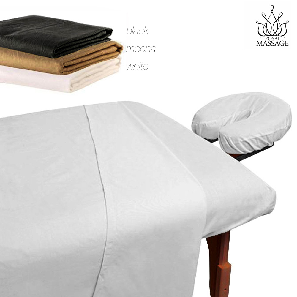 Massage Table 100 Microfiber Fitted Sheet Set 3pc Sheets Set 3 Colors For Sale Online