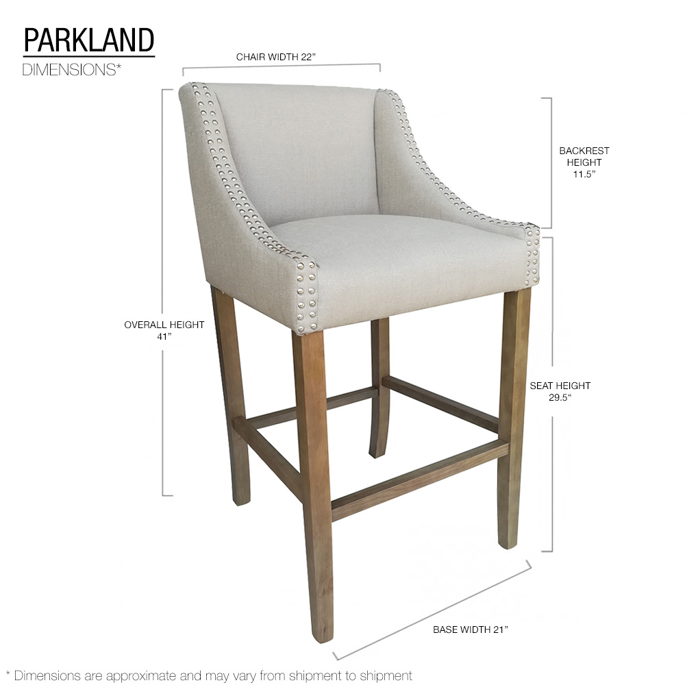 Prime Details About New Modern Wood Linen Barstool 30 Contemporary Bar Counter Stool Parkland Gmtry Best Dining Table And Chair Ideas Images Gmtryco