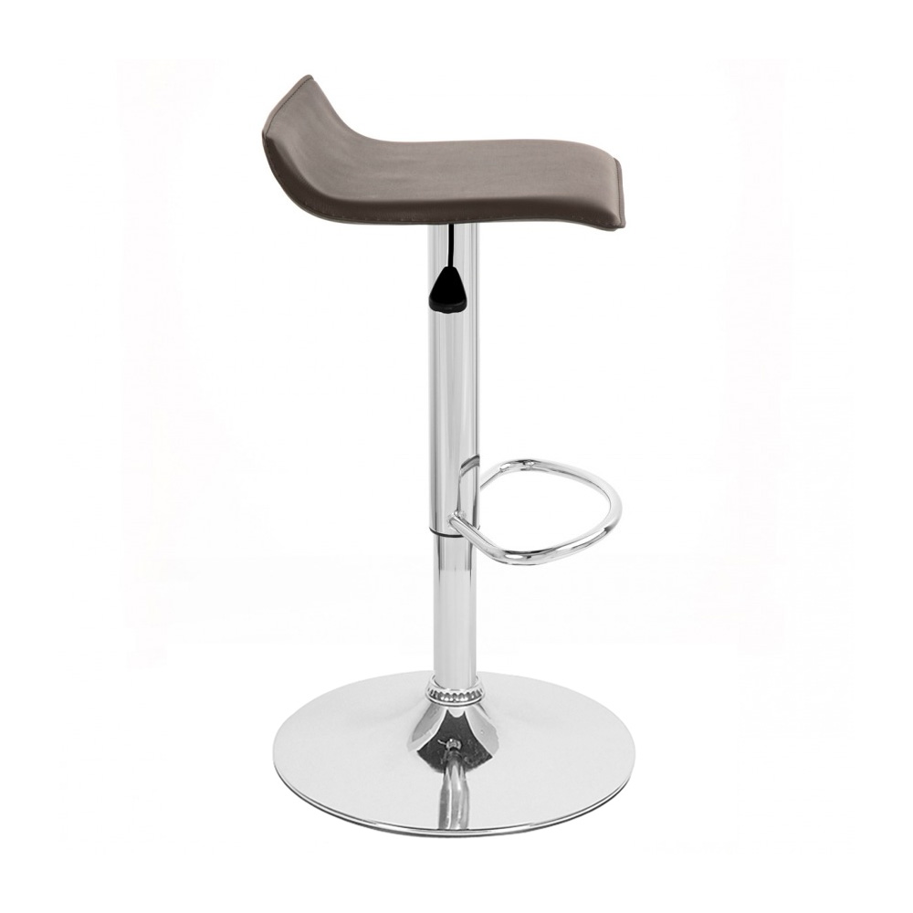 Leather Barstool Adjustable Swivel Adjusting Bar Stool