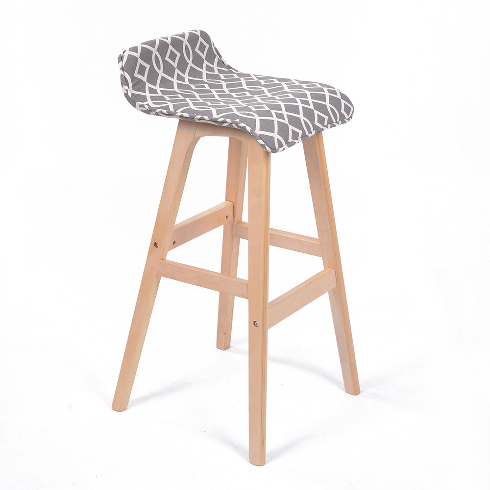 New Modern Lo Back Wood Chevron Barstool 28 5