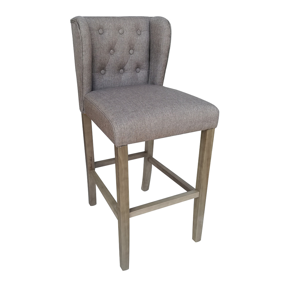 new modern wood linen barstool 30 contemporary bar counter stool wellington ebay. Black Bedroom Furniture Sets. Home Design Ideas