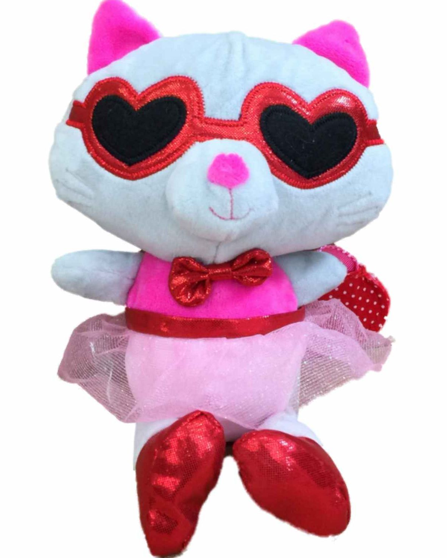 Blue Big Teddy Bear, Hug Fun Plush Dress Up Kitty Cat 9 Inch Stuffed Animal Kitten Pal