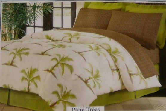 Palm Tree Quilt Sets: The Big One Bali Twin 6 Piece Bed In Bag Set Tropic Palm