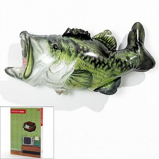 Fish Decor For Home: DCI Inflatable Bass Fish Trophy Decorative Wall Fishing