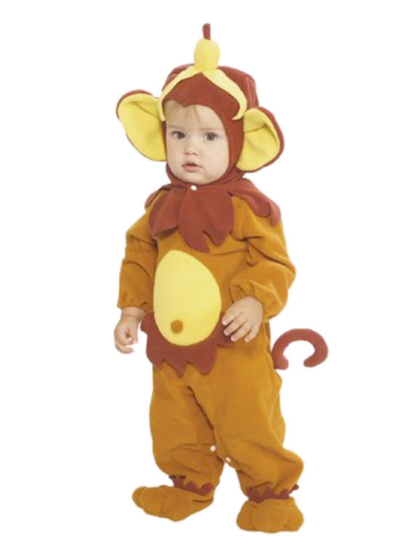 Image is loading Rubies-Infant-Boys-&-Girls-Monkey-Costume-With-  sc 1 st  eBay & Rubies Infant Boys u0026 Girls Monkey Costume With Banana Hat Baby ...