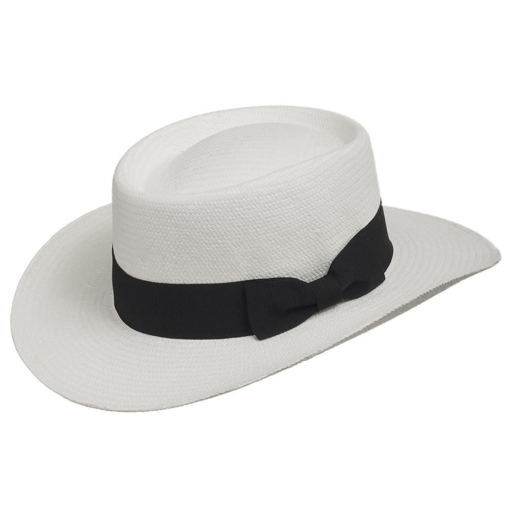 Gambler Straw Hat: GAMBLER LINKS Elegant Golf Dress Straw Panama Hat With