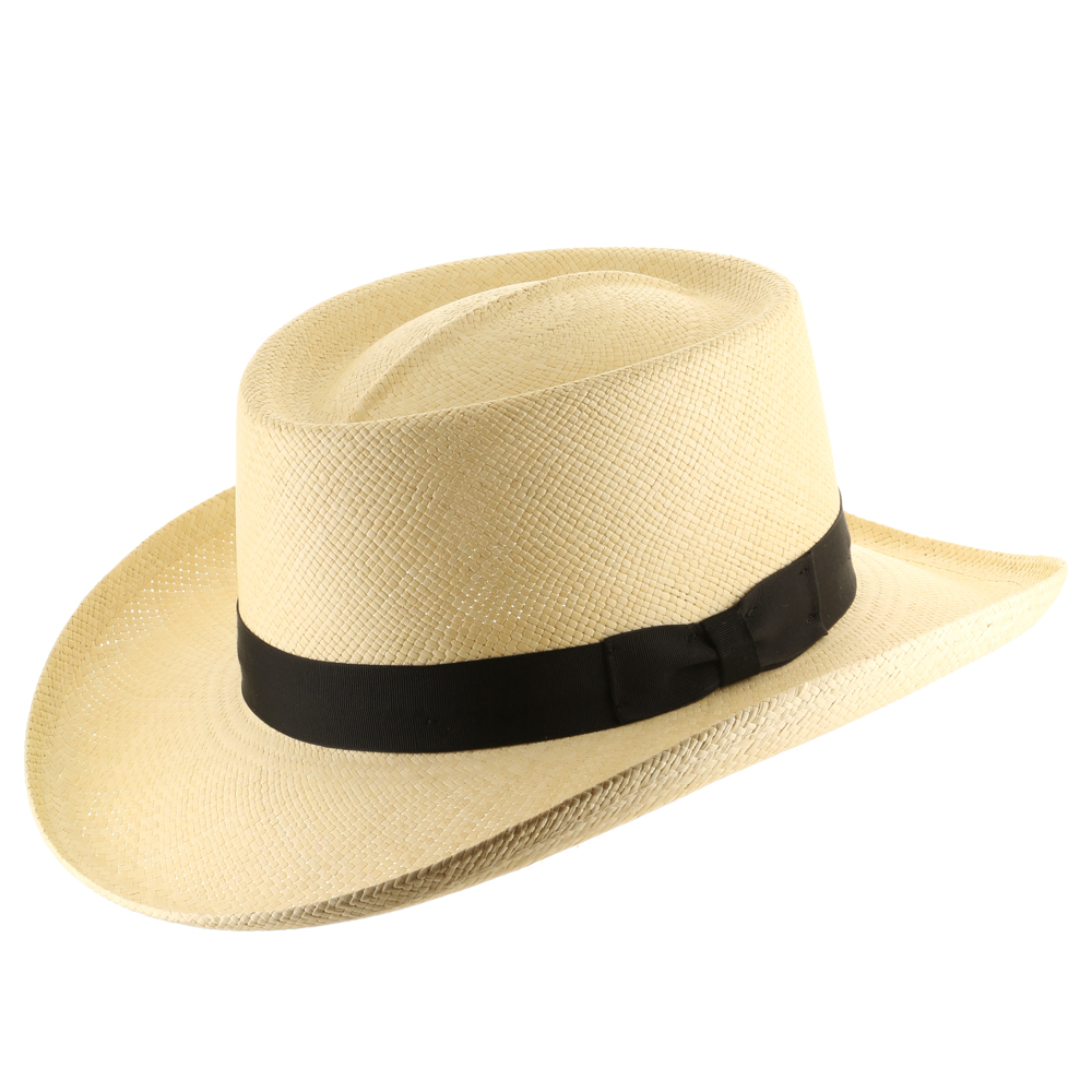 Ultrafino Hollywood Gambler Straw Panama Hat