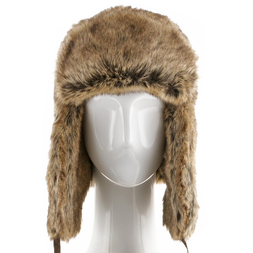 7a5cbc372f7ca Huskie Ushanka Soft Faux Fur Trapper Winter Hat Ear flaps Men and ...
