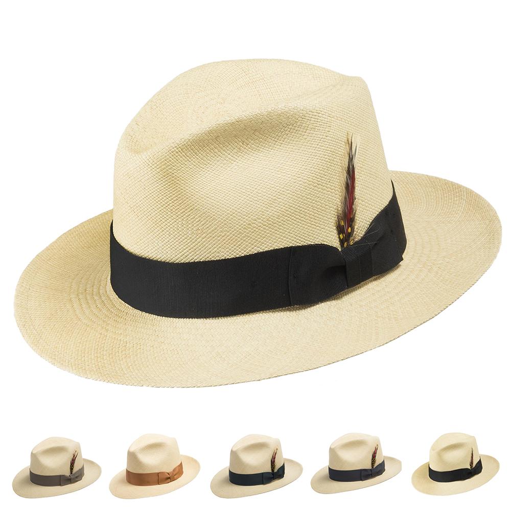 46508f6265422 Ultrafino CARTER FEDORA Panama Hat Natural Straw Stylish 6 7 8