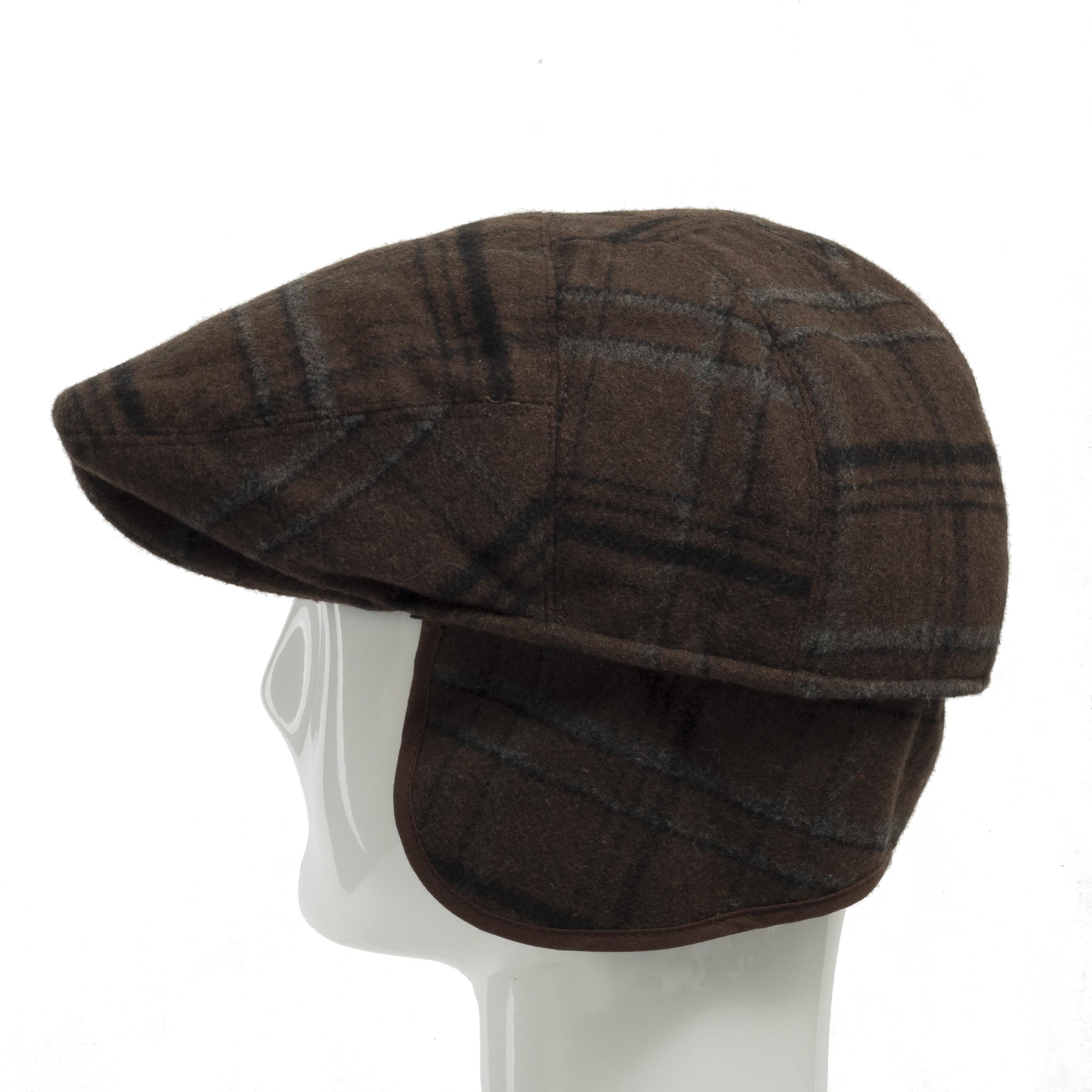 7f6a99ddab969 Tusco Wool Grey Plaid Ivy Cap Newsboy Hat Ear Flap