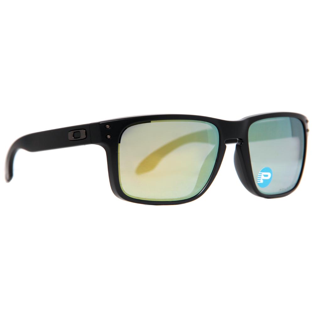 6f972e8975 Oakley Holbrook OO9102-50 Matte Black Emerald Iridium Polarized Sunglasses