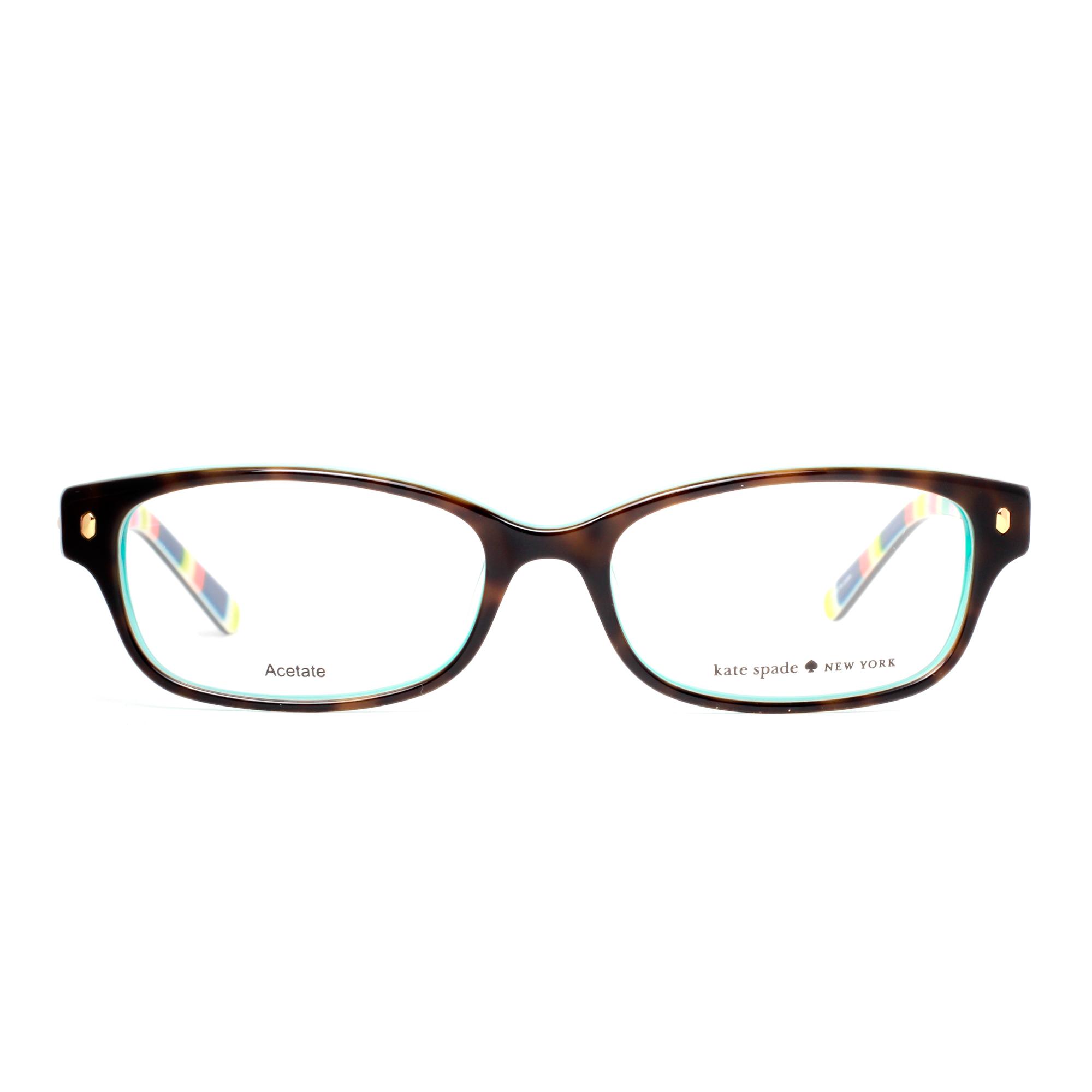 Kate Spade Tortoise Shell Eyeglass Frames : Kate Spade Lucyann X77 Brown Tortoise/Aqua Stripes Womens ...
