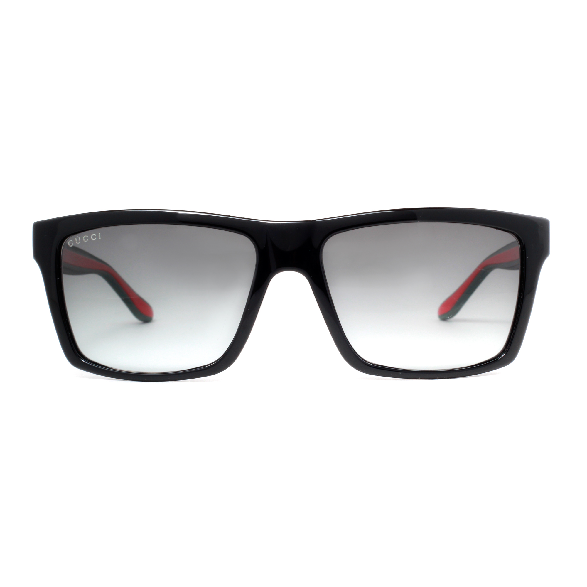 f6e9716e7fb Gucci GG 1013 S 51N PT Shiny Black Grey Gradient Rectangular Sunglasses