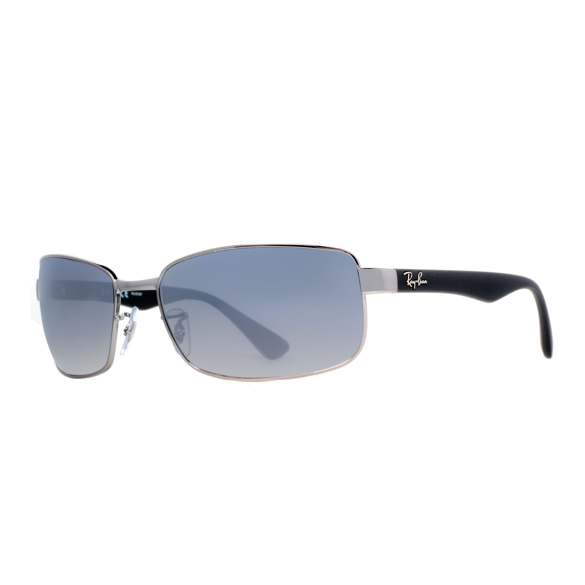 rb3478  Ray Ban RB 3478 004/78 63mm Gunmetal/Blue Polarized Wrap ...