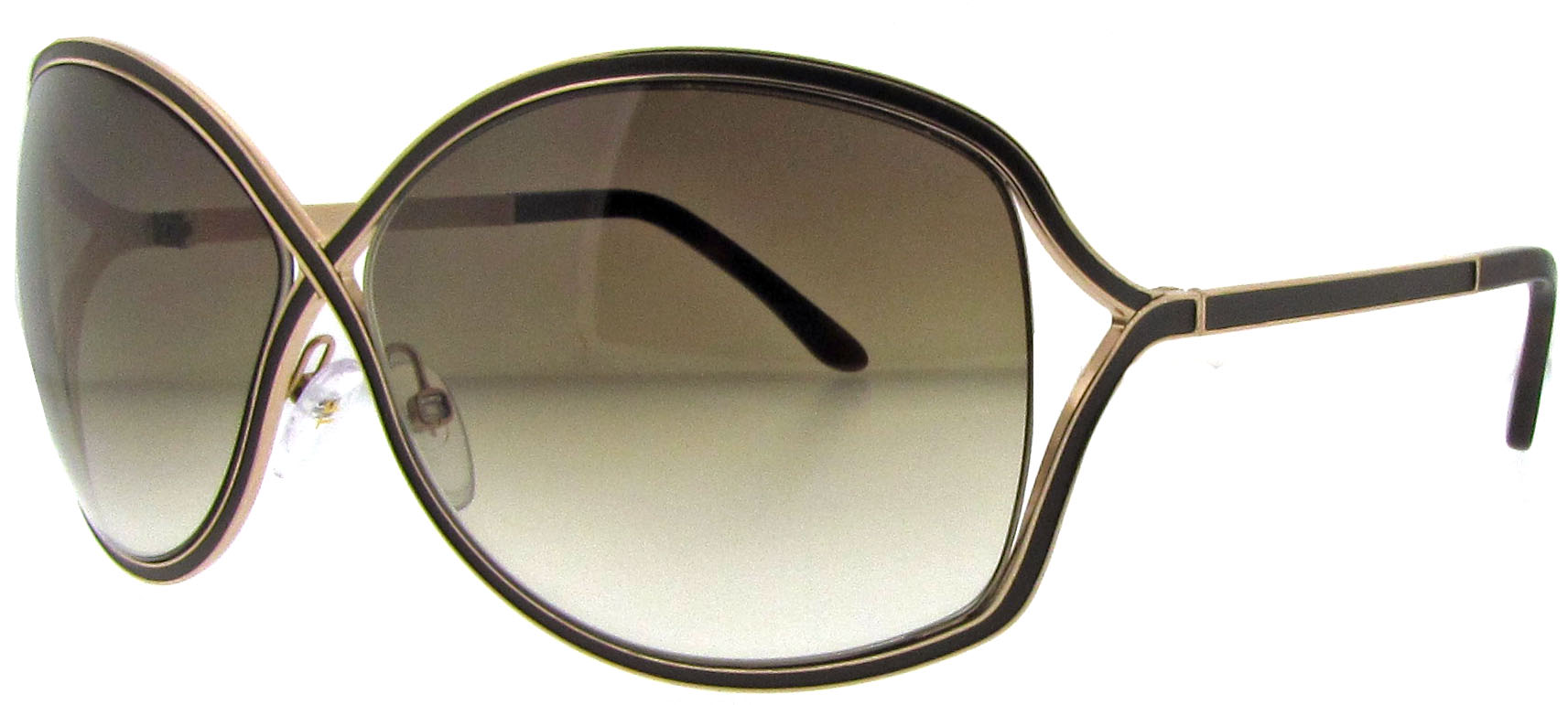 f0a3e4bc99 TOM FORD TF 179 RICKIE 48F BROWN GOLD TF179 SUNGLASSES 664689493890 ...