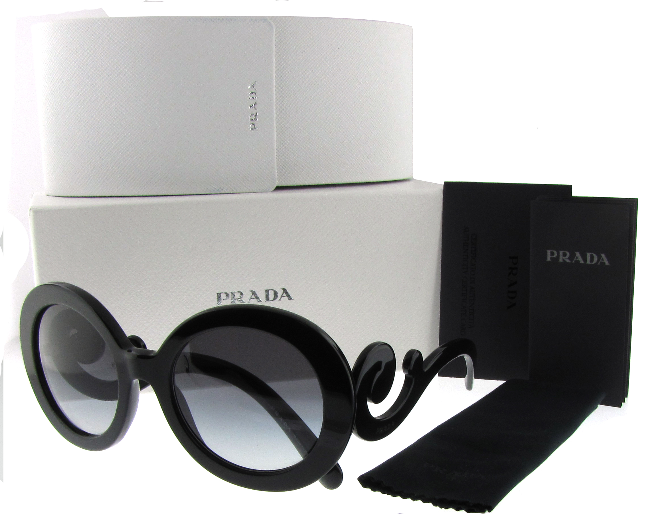 07cd788d62 Prada SPR 27N Baroque Swirl Women's Round Sunglasses | eBay