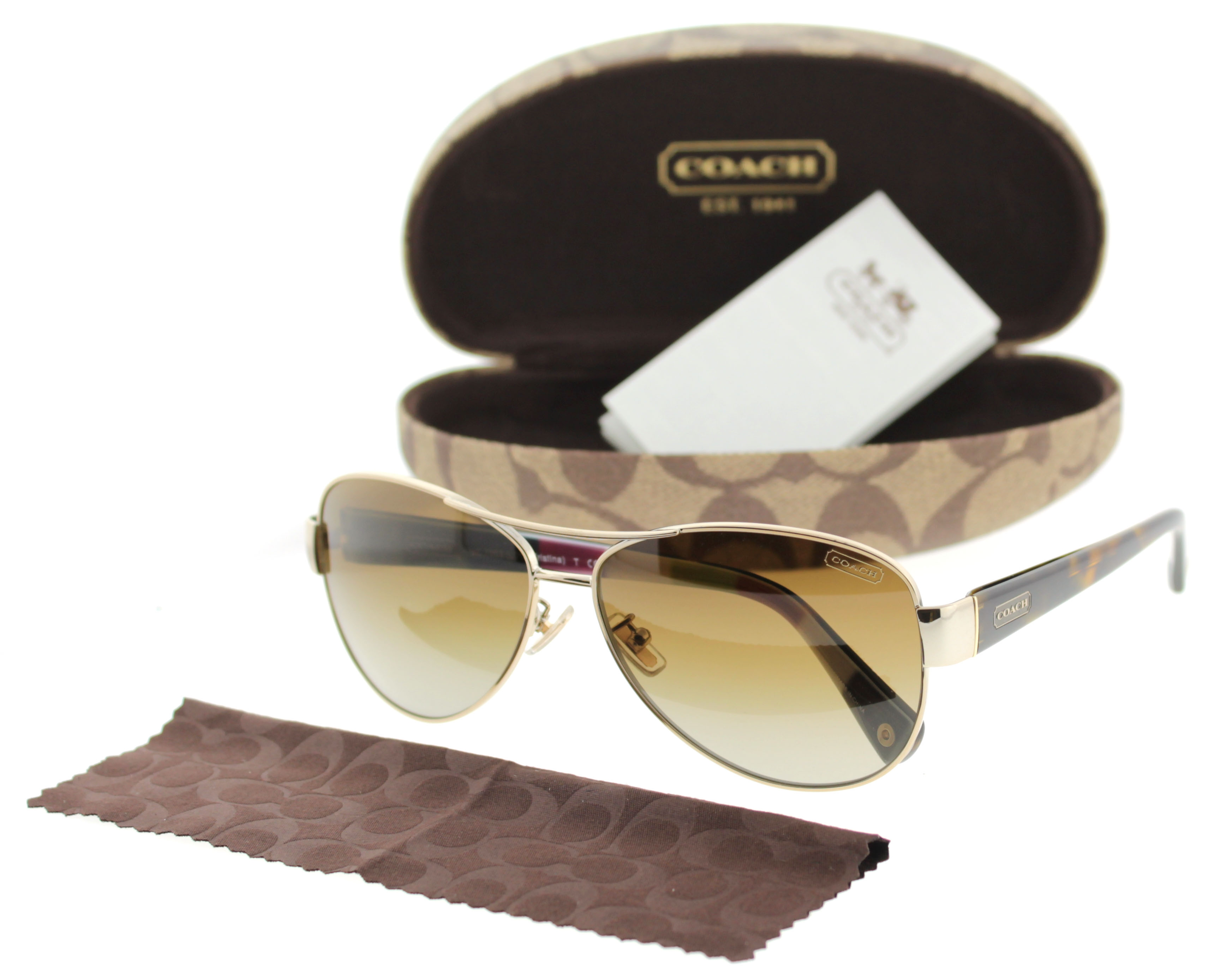 079d1d5efa Coach Kristina Polarized Aviator Sunglasses. Coach HC 7003 9013 T5 L012 ...