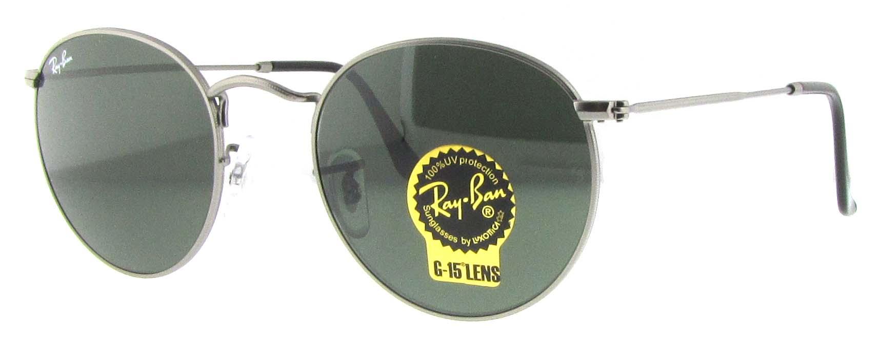 caa3a57d74d Ray Ban Rb 3447 Round Metal Sunglasses 50mm Gun