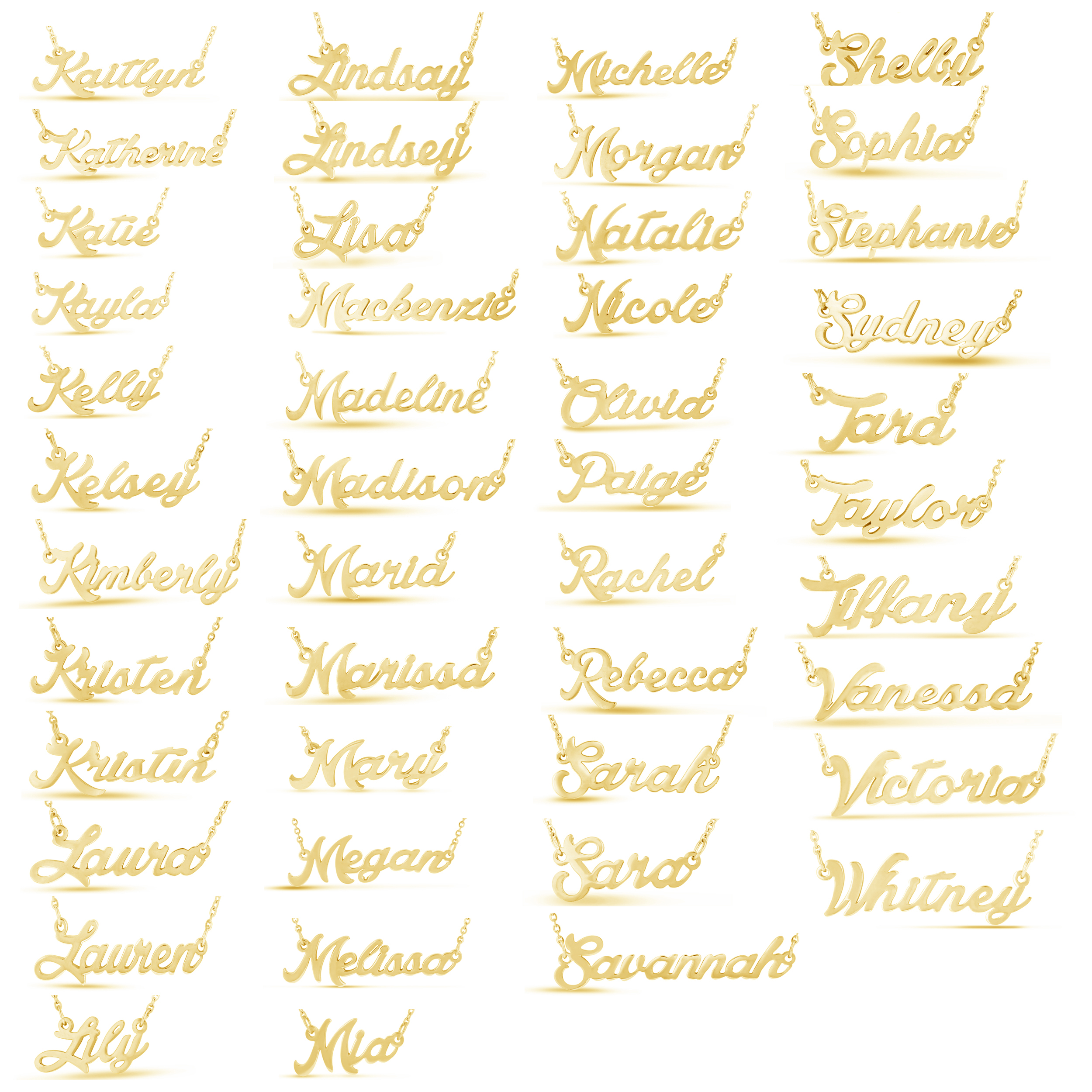 Personalized name necklace silvergold plated 100 names personalized name necklace silver gold plated 100 names aloadofball Image collections