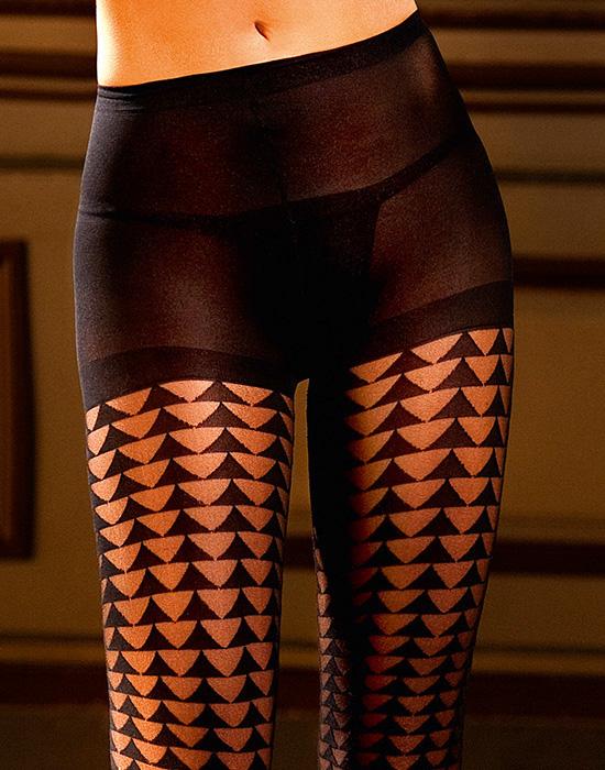 Sexy Black Control Top Pantyhose 53