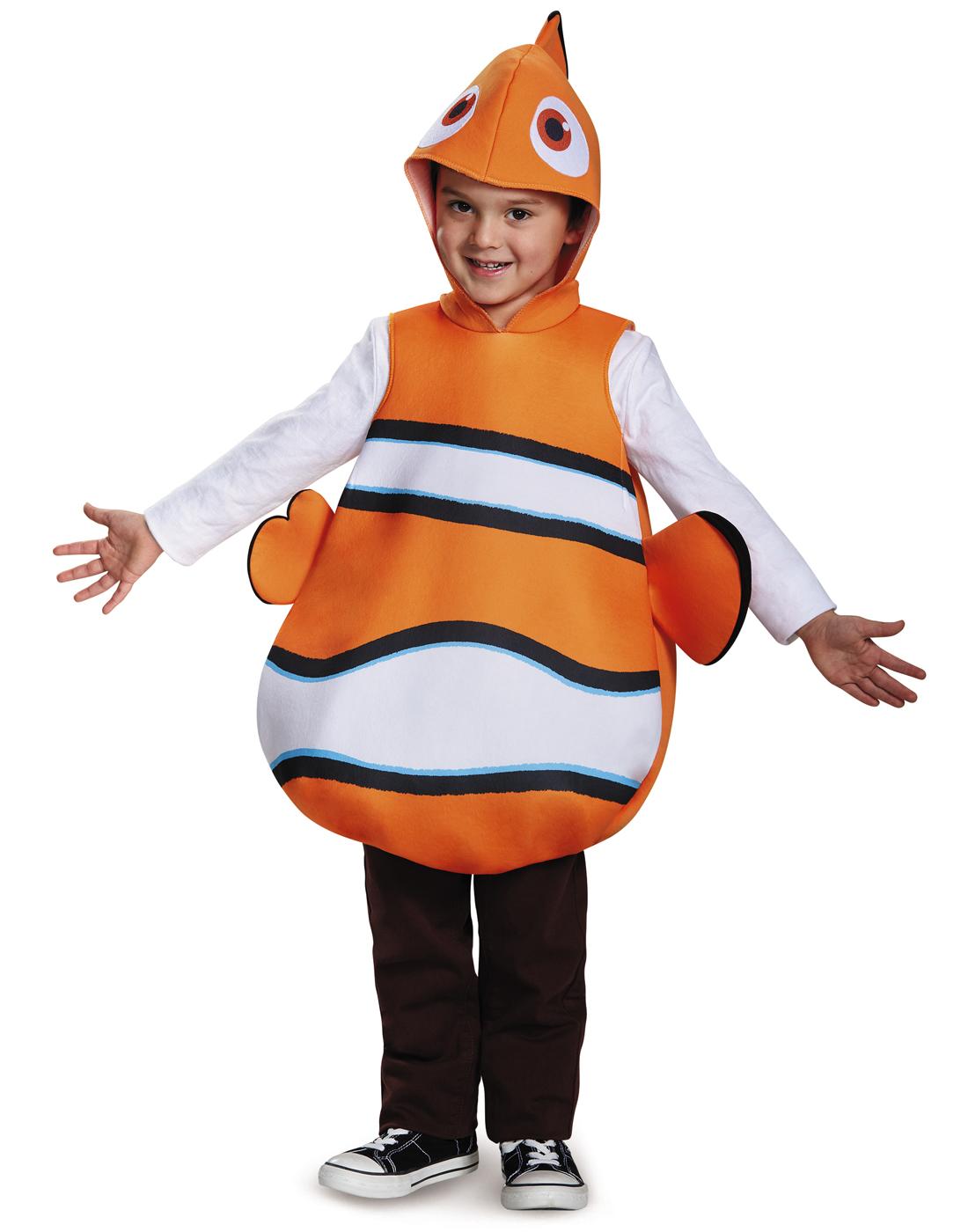 finding nemo orange clown fish classic childs halloween costume-one