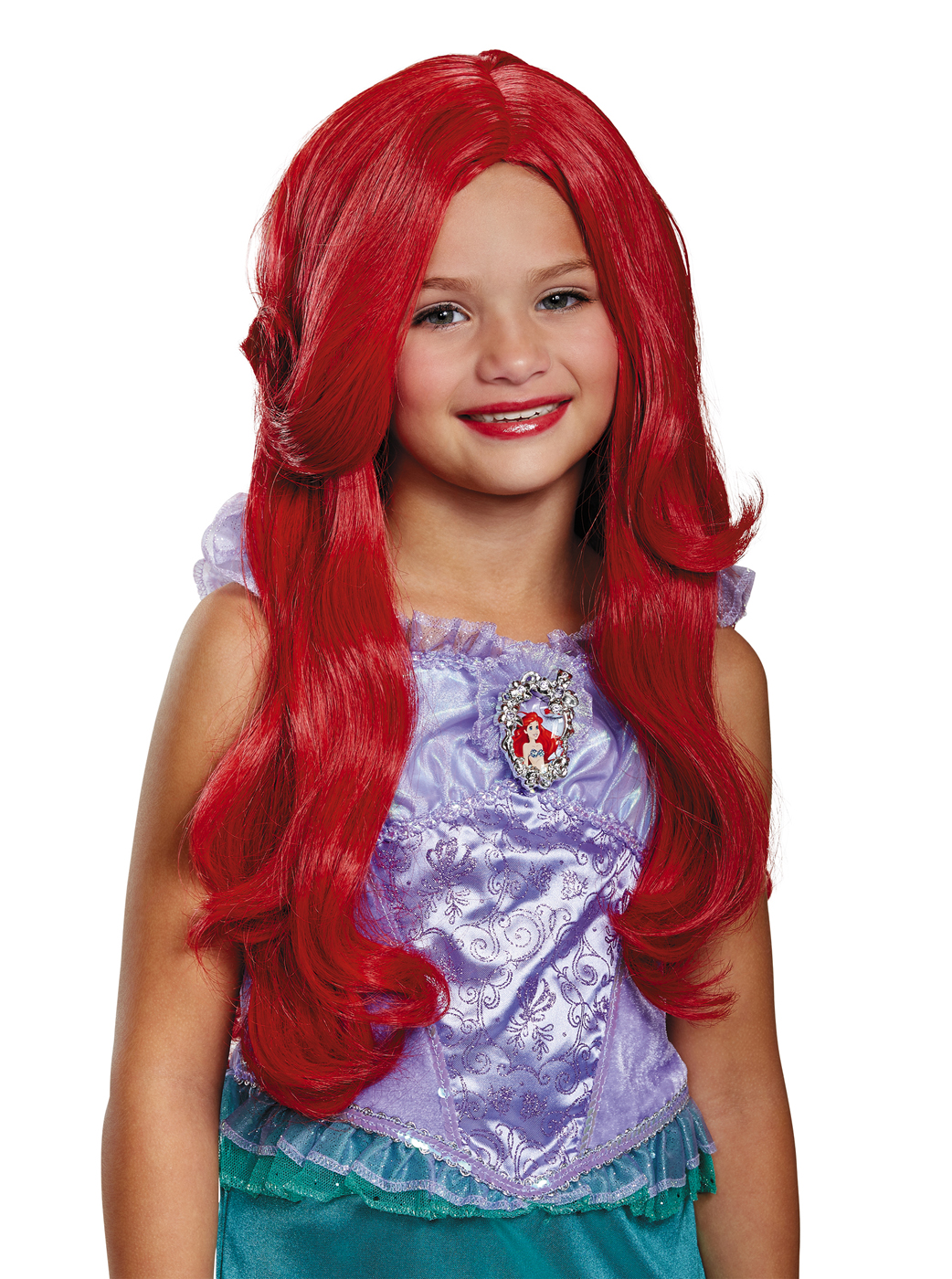 disney princess the little mermaid ariel child deluxe red long