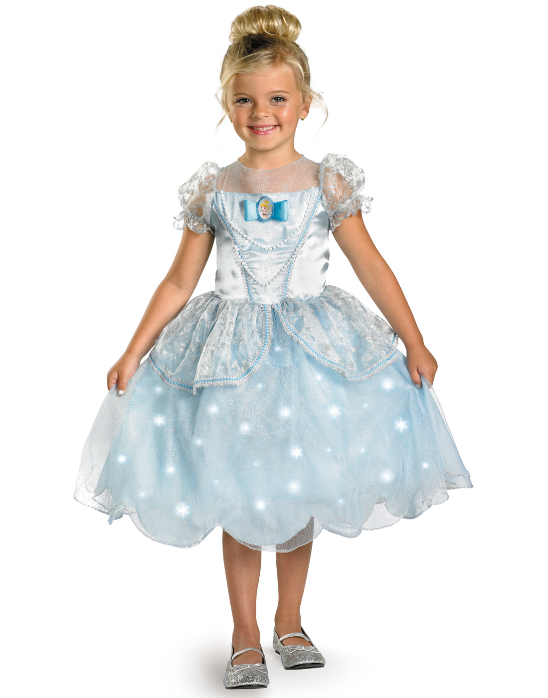 Disney Cinderella Light Up Dress Fancy Princess Halloween ...
