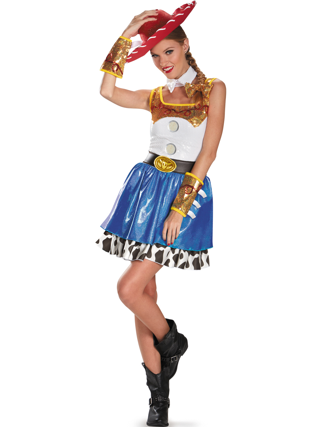 toy story sexy jessie cowgirl fancy dress halloween costume womens 4 20 ebay. Black Bedroom Furniture Sets. Home Design Ideas