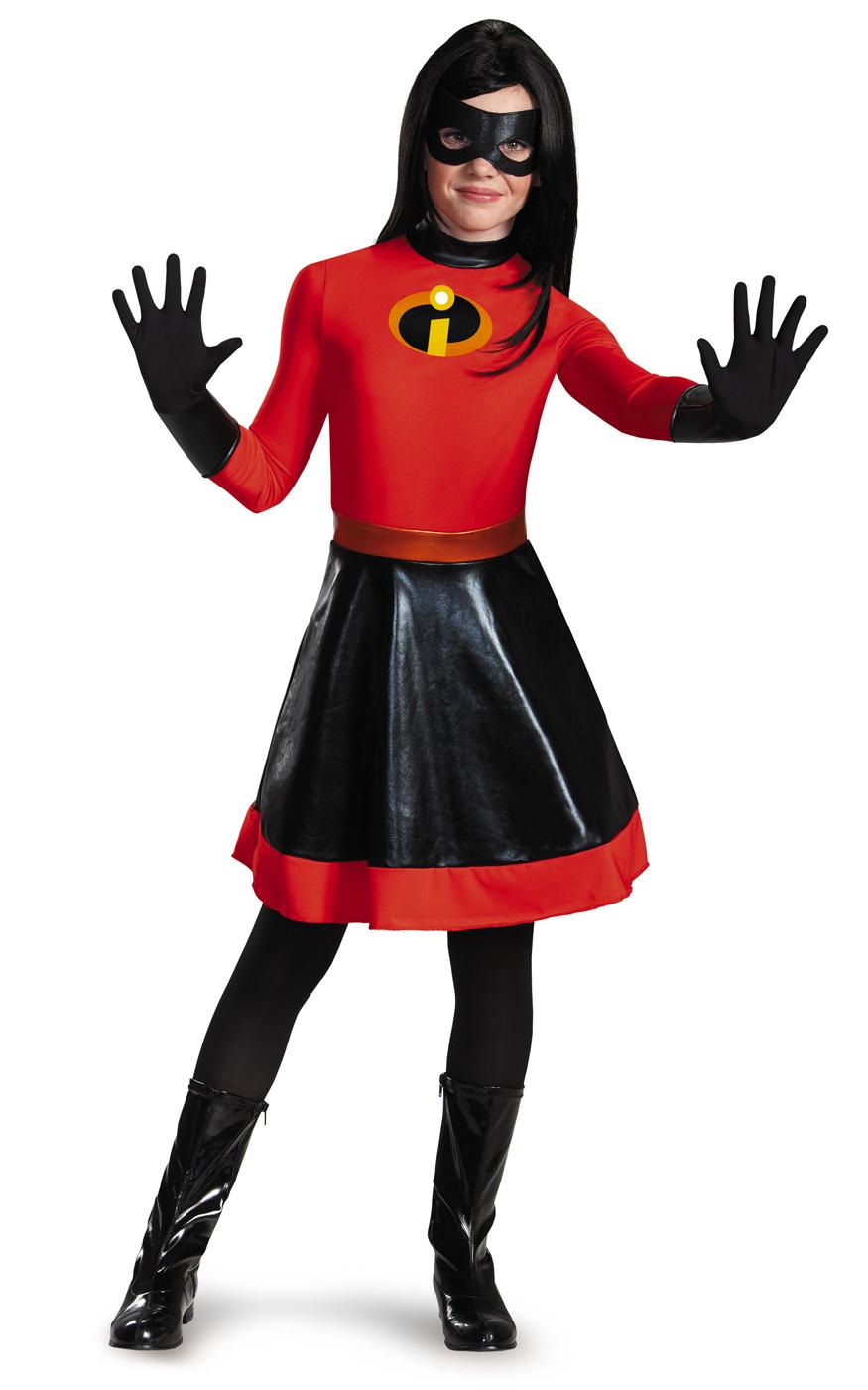 Violet Girls Teen The Incredibles Superhero Classic Halloween Costume