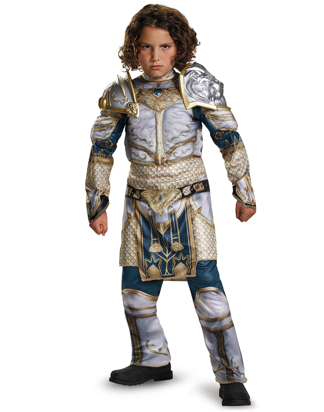 Durotan Warcraft Classic Muscle Chest Boys Halloween Costume