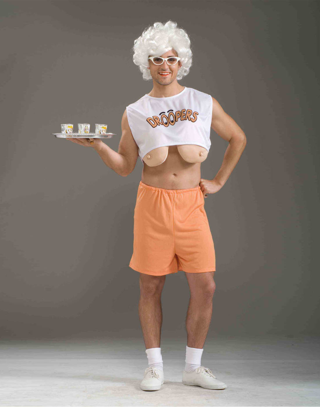 Adult Funny Old Lady Waitress Droopers Hooters For Men -6265