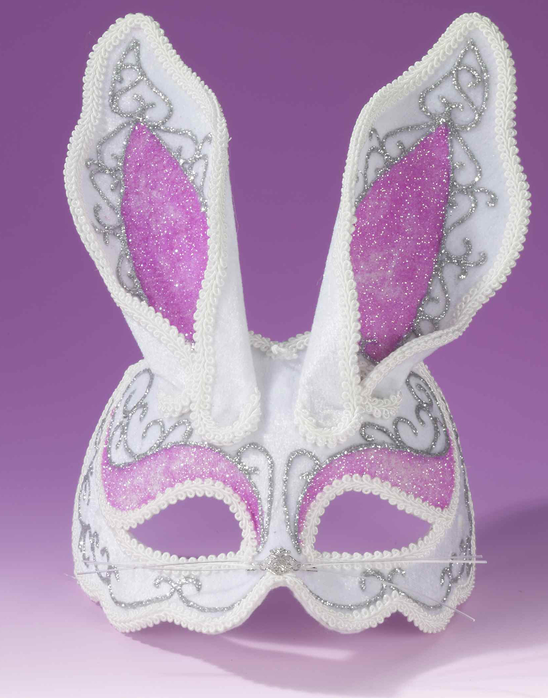 Fancy Bunny 1//2 Mask Masquerade Party Womens Fancy Halloween Costume Accessory