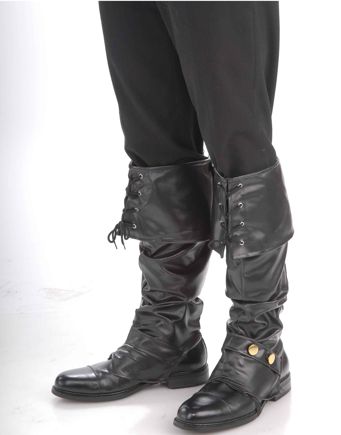 Details about Deluxe Pirate Renaissance Adult Mens Halloween Costume Black  Boot Top Covers