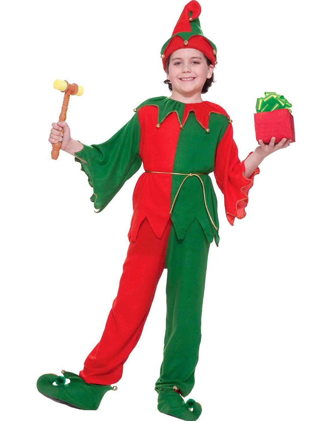 2d952a6f21da Santa S Elf Santa Claus Helper Childs Christmas Halloween Jester ...