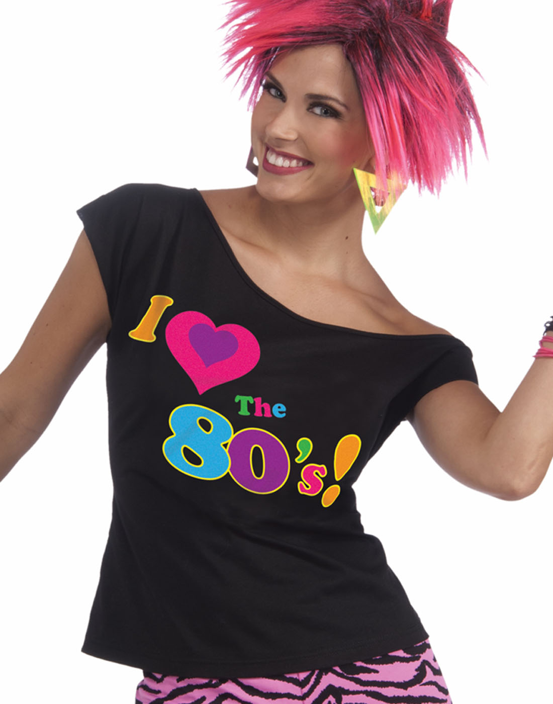 b91750984e02a I Love The 80S T-Shirt Halloween Costume Fancy Dress Halloween Remix ...