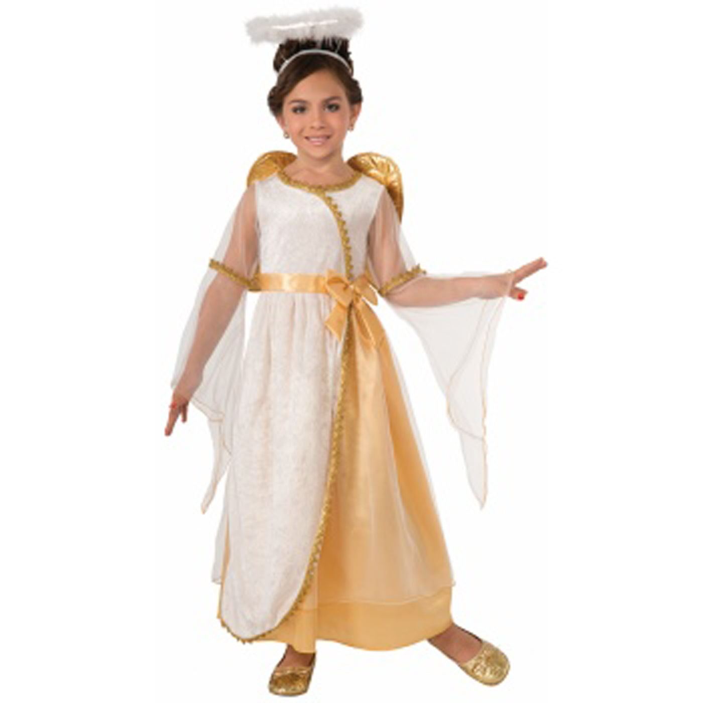 Spirit Of Christmas Past Costume.Details About Golden Angel Girls Child Holiday Play Christmas Spirit Costume