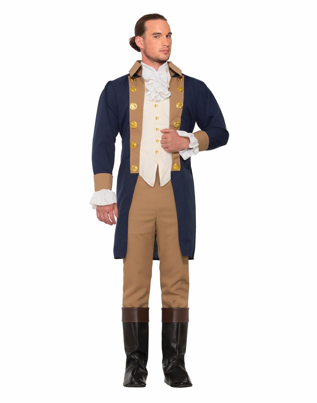 Colonial Gentleman Mens Adult Revolutionary Halloween Costume-Std