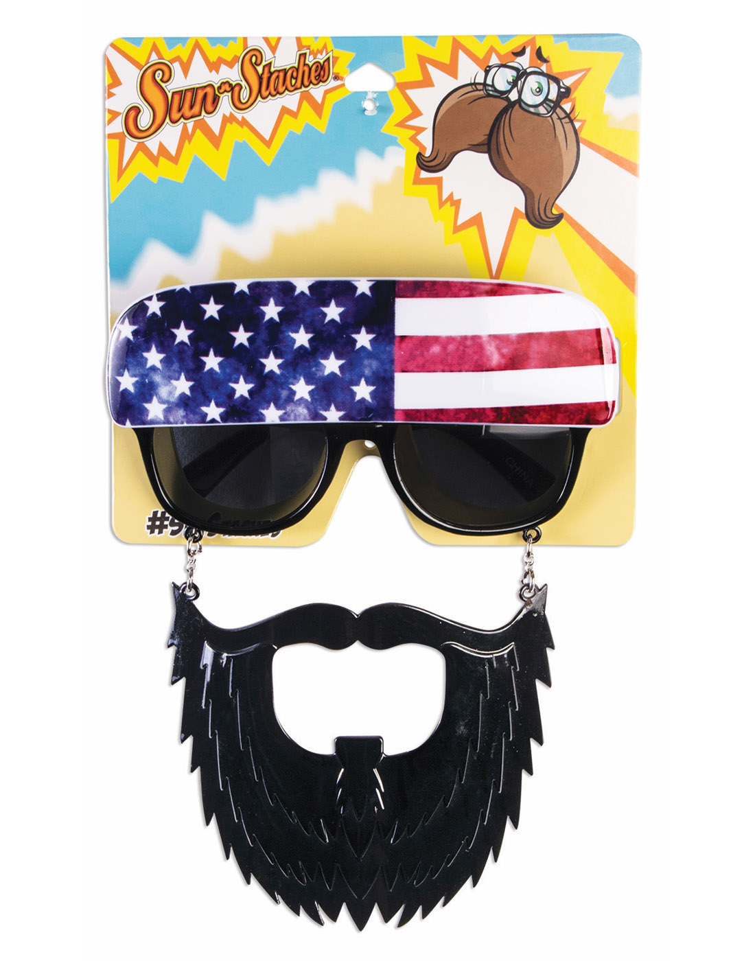 ae6e35f5d8aa American Trucker Boys Flag Sunglasses Sunstaches Accessory ...