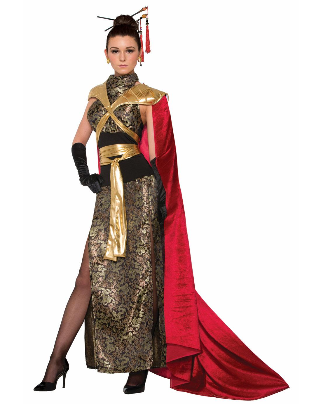 b2d33e72a66 Details about Dragon Empress Womens Adult Queen Ruler Halloween Costume-Std