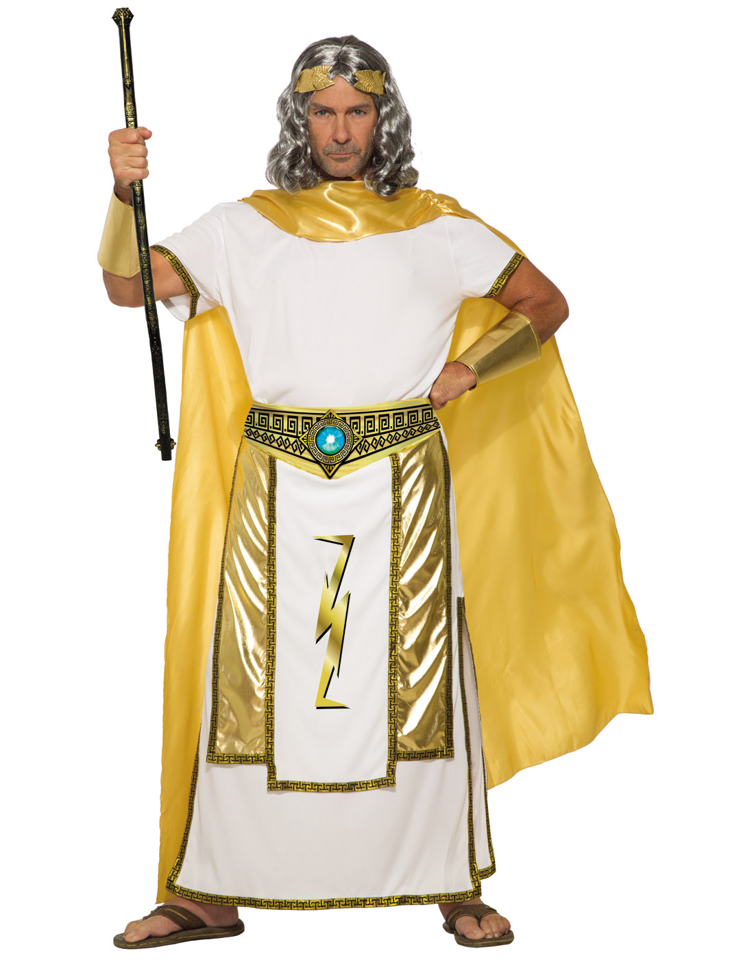 Mythical Creatures Halloween Costumes.Details About Mythical Creature Zeus Mens Adult Greek God Halloween Costume Std