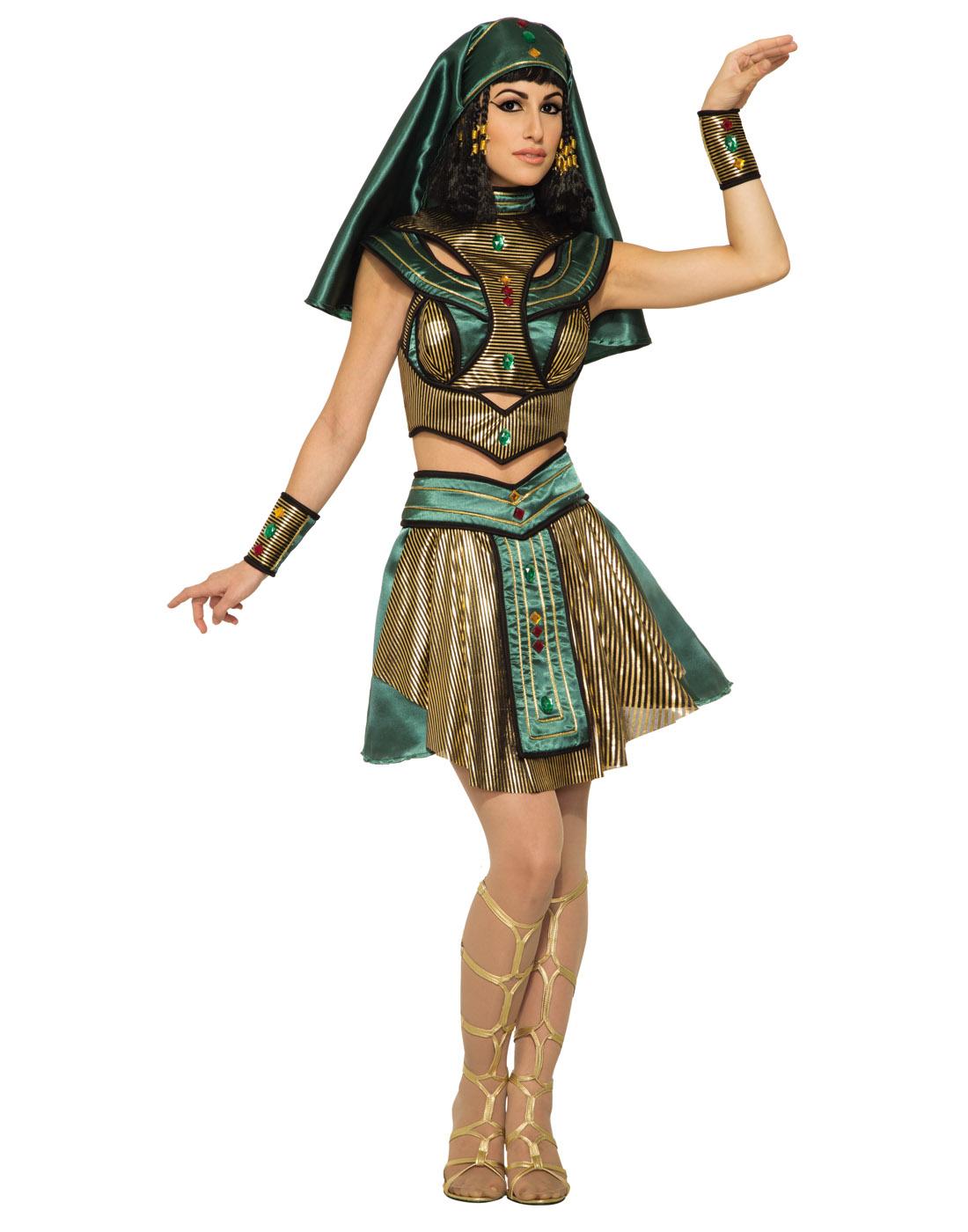 2fc494d3dd3 Egyptian Priestess Womens Adult Queen Cleopatra Halloween Costume | eBay