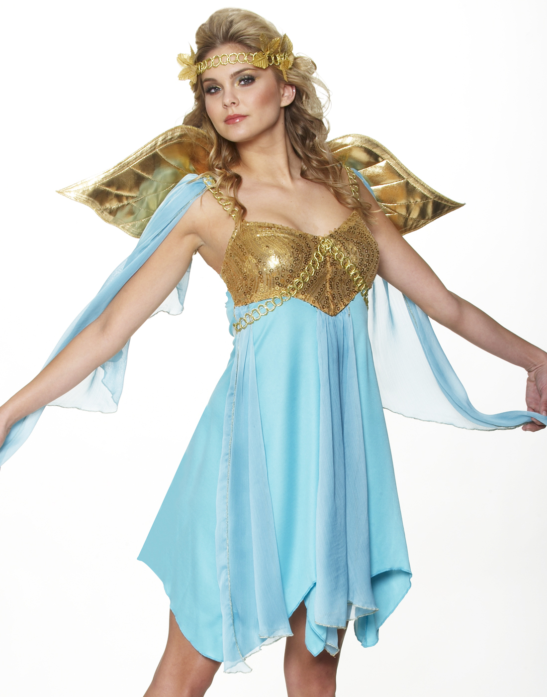1e07753cd Details about Athena Roman Greek Goddess Toga Princess Fancy Womens  Halloween Costume L