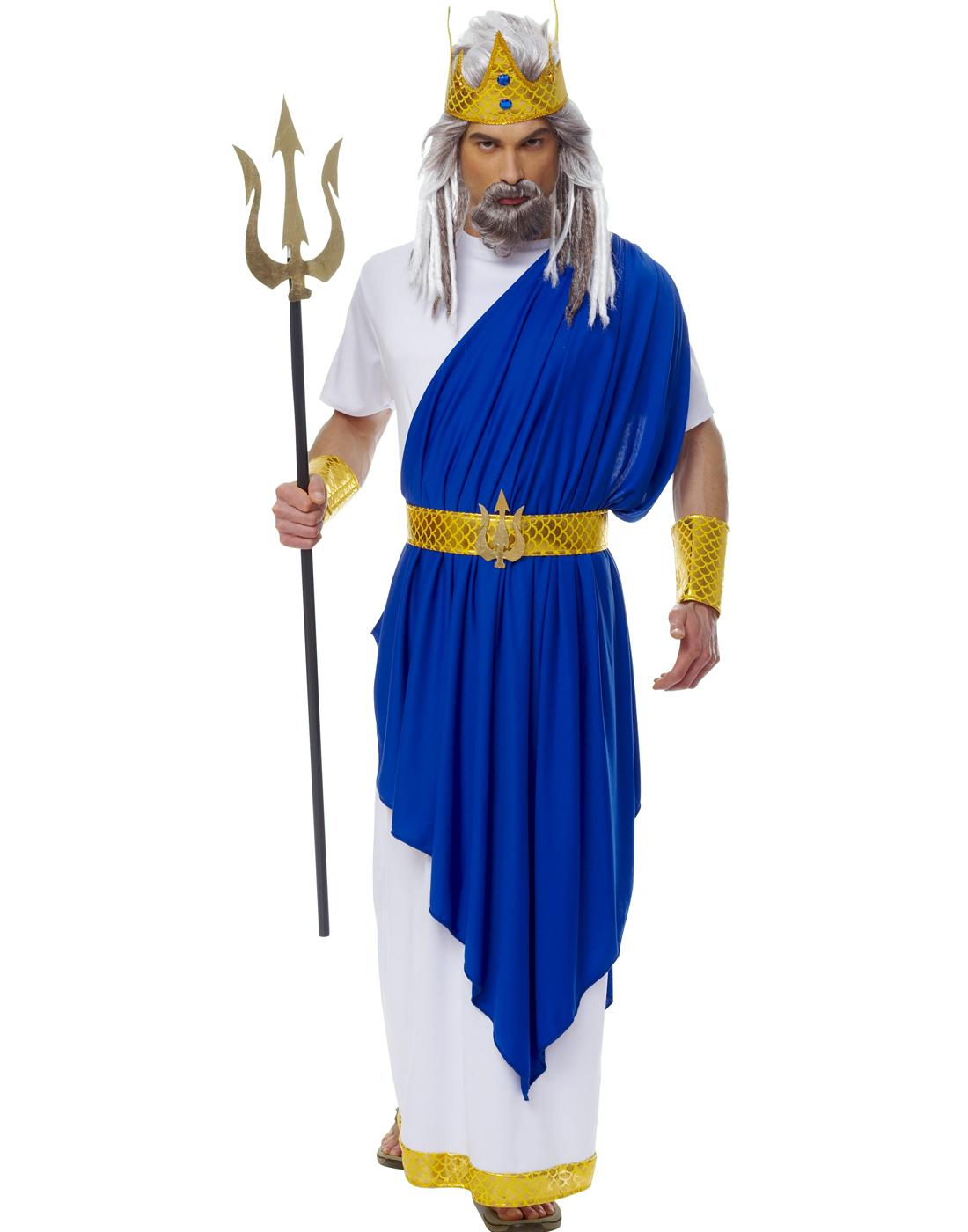 Neptune King God Poseidon Greek God Stag Party Mens ...