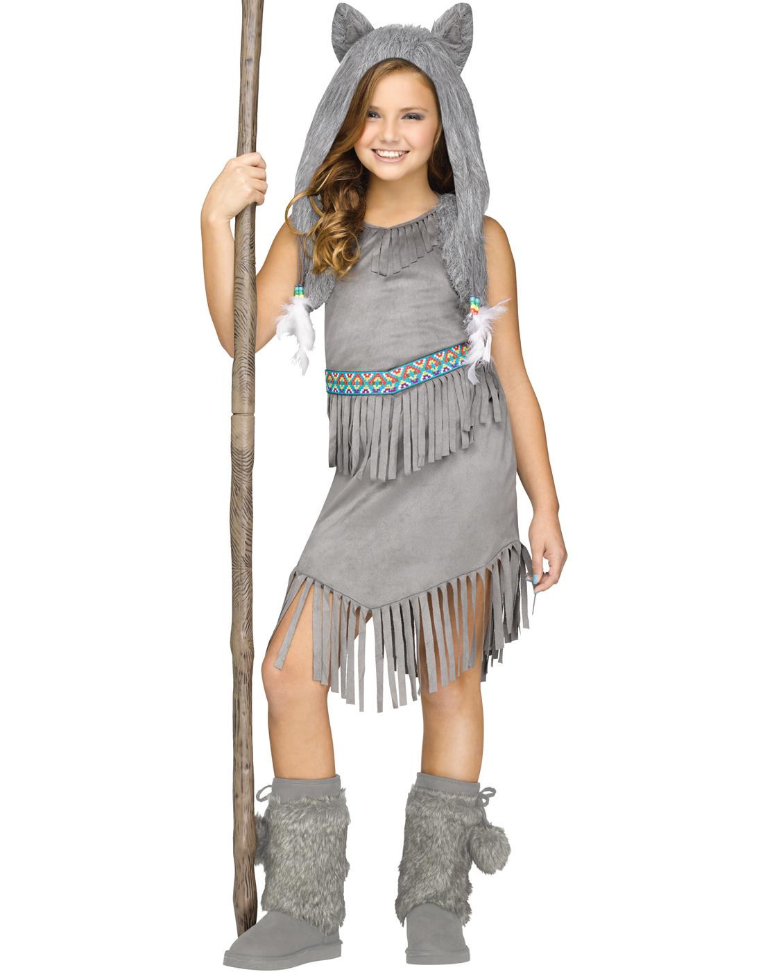 wolf dancer girls native american indian halloween costume m