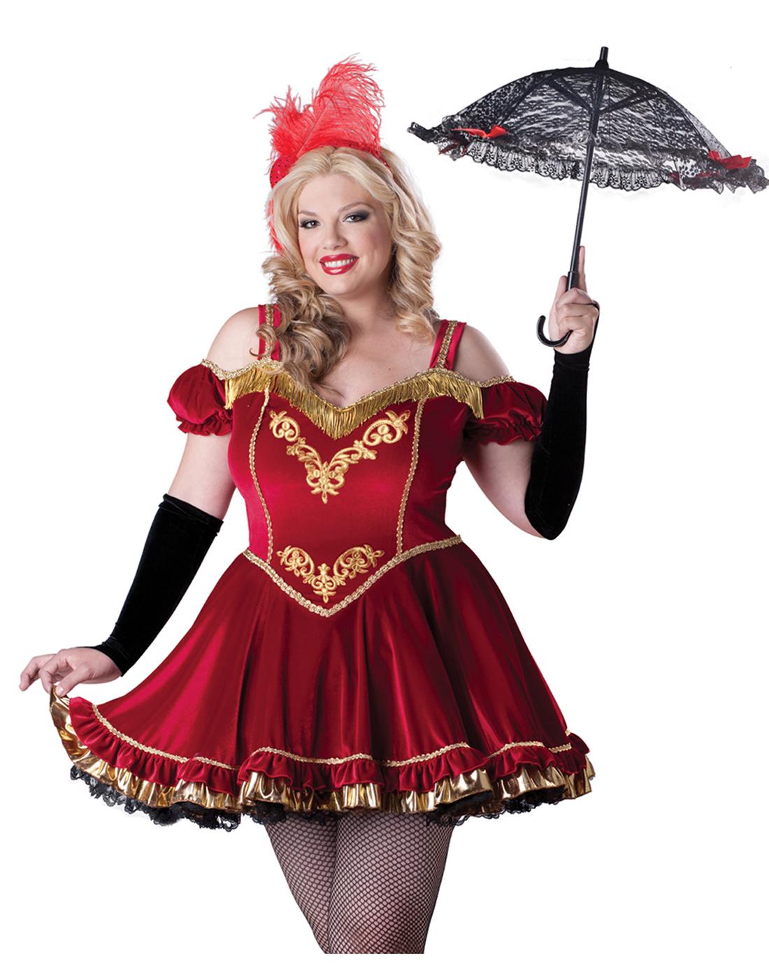 Circus Cutie Clown Jester Costume  sc 1 st  eBay & Circus Cutie Ringmaster Sexy Plus Size Burlesque Fancy Halloween ...