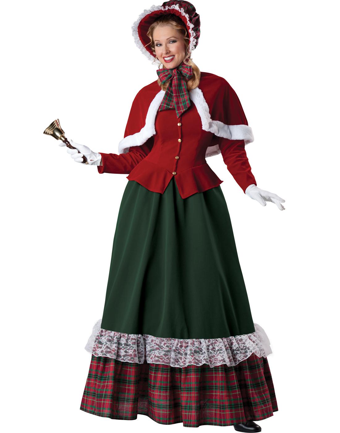 Yuletide Lady Victorian Carol Singer Womens Christmas Costume Ebay