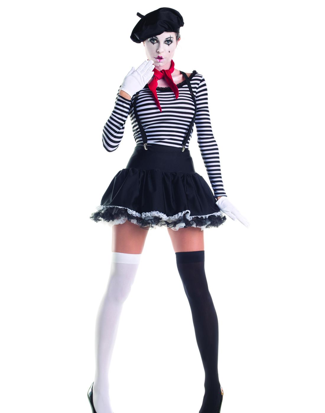 Mesmerizing Mime Sexy French Artist Clown Fancy Womens ...
