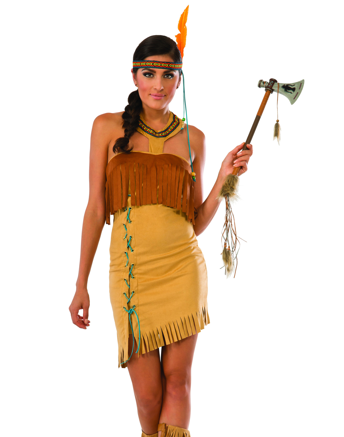 321f5320966 Details about Indian Maiden Adult Women Native American Costume